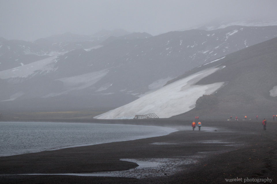 Gloomy weather at Deception Island