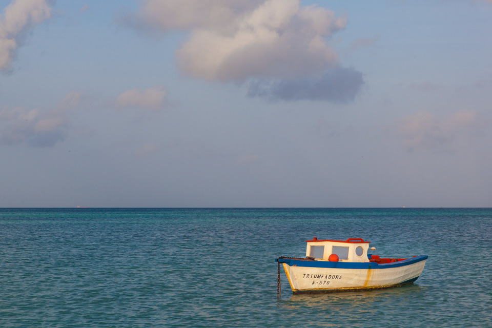 Boats near Palm Beach, Aruba