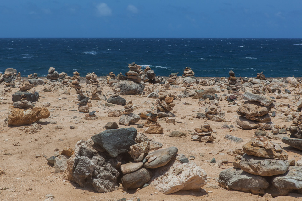 The Wish Rock Garden near Bushiribana Ruins, Aruba