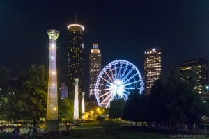 Centennial Olympic Park at night, Atlanta