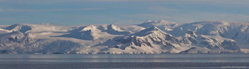 Mountain Range around Gerlache Strait, Antarctica