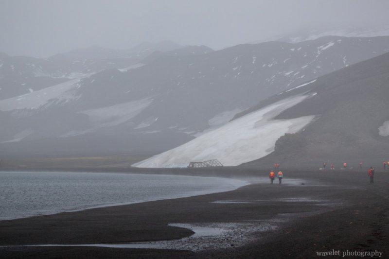 Gloomy weather at Deception Island