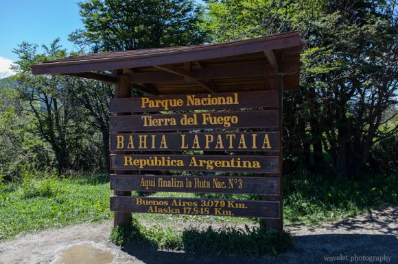 The end of the Panamerican Highway, Tierra del Fuego N. P.