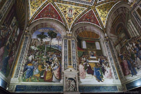 Piccolomini Library in the Duomo, Siena