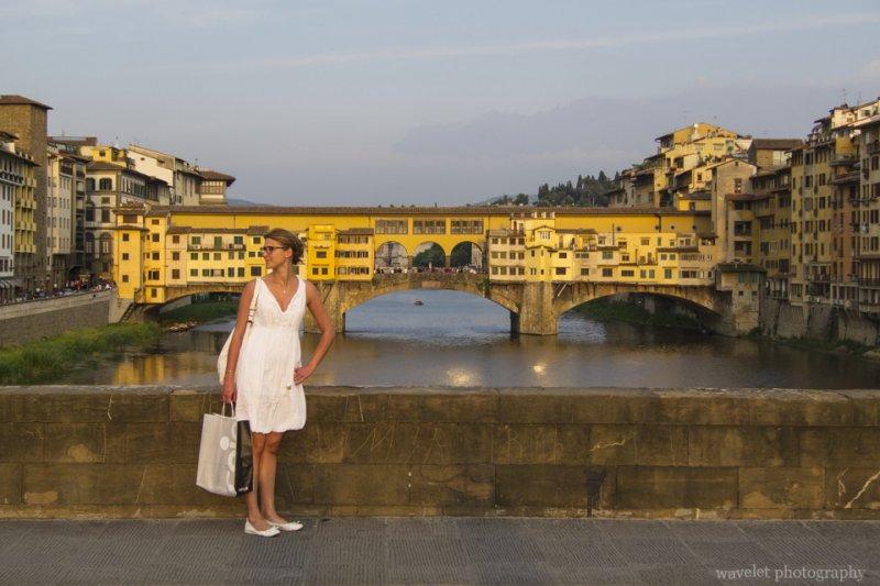 View Ponte Vecchio from Ponte Santa Trinita, Florence