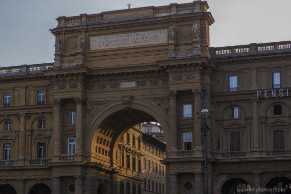 Triumphal Arch at Piazza della Repubblica, Florence