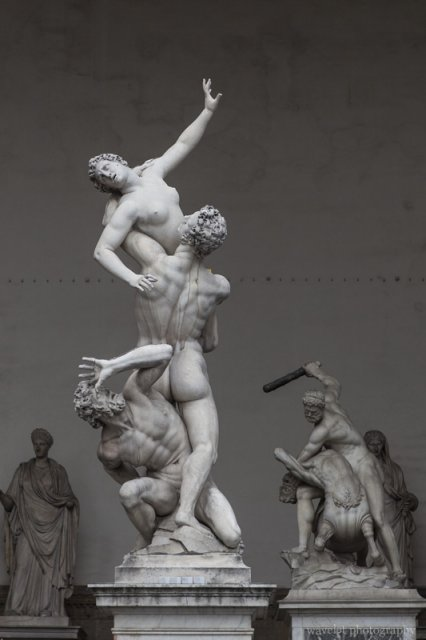 The Rape of the Sabine Women, Loggia dei Lanzi, Florence