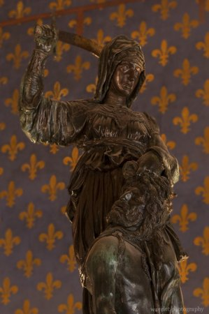 Judith and Holofernes by Donatello, Hall of Lilies (Sala dei Gigli), Palazzo Vecchio, Florence