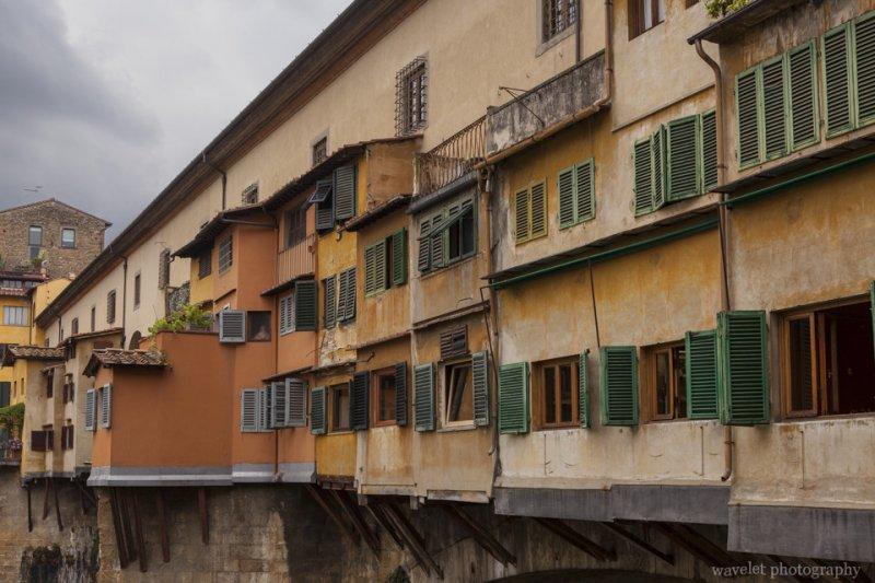 Closer look of Ponte Vecchio, Florence