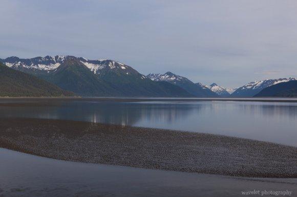 By the Seward Highway near Beluga Point, Alaska