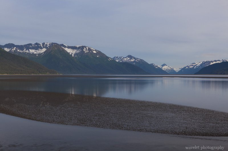 By the Seward Highway near Beluga Point, Alaska