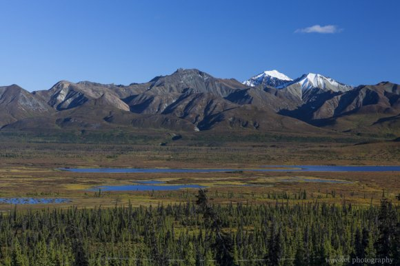 Mountain range by the Glenn Highway, Alaska