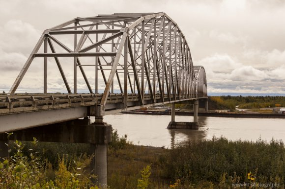 Mears Memorial Bridge over the Tanana River, Nenana, Alaska