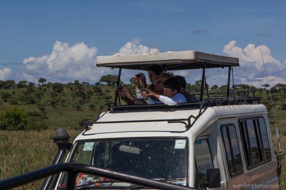 Visitors in Tarangire National Park