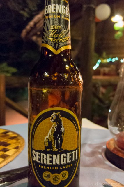 Serengeti Beer, dinner at Kirurumu Manyara Lodge