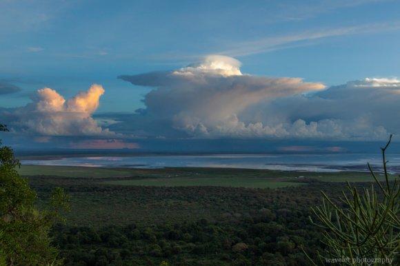 Sunset over Lake Manyara
