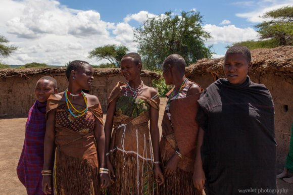 A family of Datoga Tribe, near Lake Eyasi