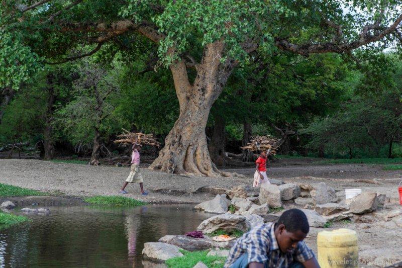 The water source of villages near Lake Eyasi