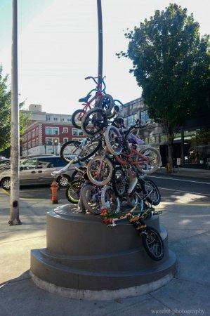 A bike sculpture, Burnside and 13th Av. intersection, Portland, OR