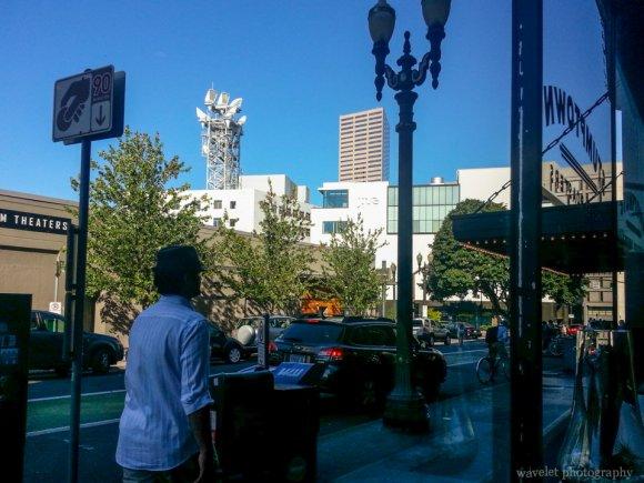 Street view from Stumptown Coffee Roasters on SW Stark St, Portland, OR