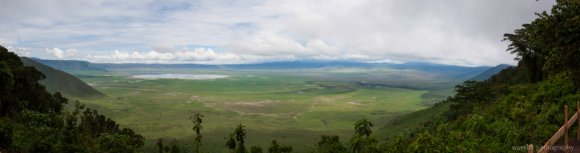 Overlook Ngorongoro crater from its south side.