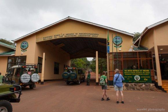 Entrance of Ngorongoro Conservation Area.