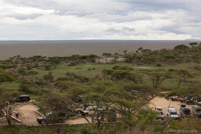 Endless grassland in south Serengeti, the entrance of Serengeti National Park