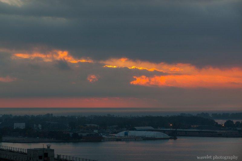 Sunrise over Lake Ontario, Toronto
