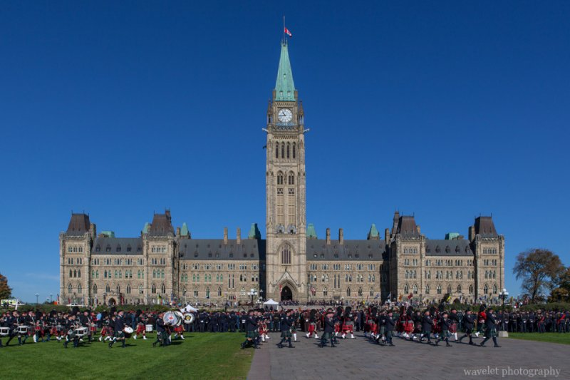 Parade of Canadian Police And Peace Officer's Memorial in front of Parliament of Canada, Ottawa