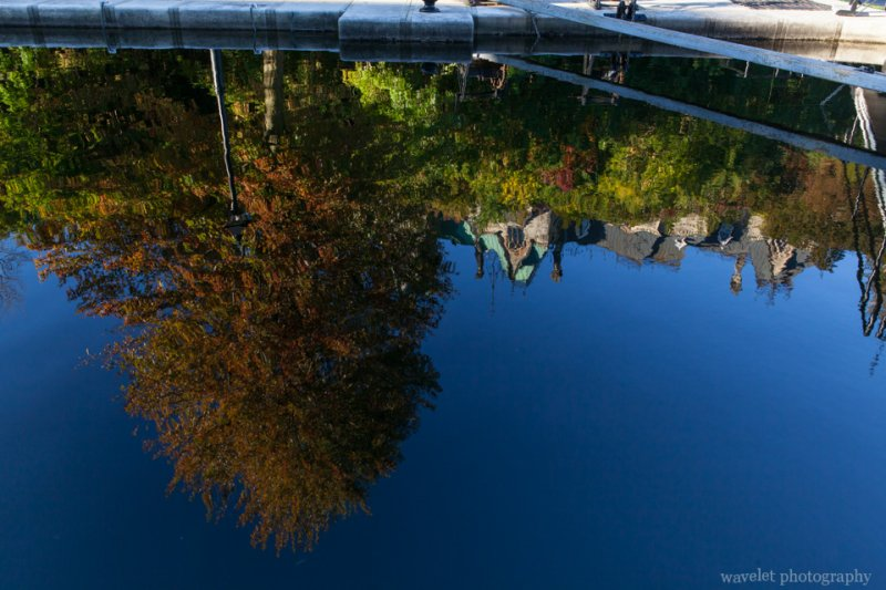 Reflection of the Parliament Hill in Rideau Canal, Ottawa