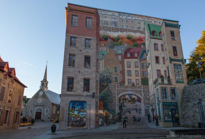 Notre-Dame-des-Victoires and Fresque des Québécois, Quebec City