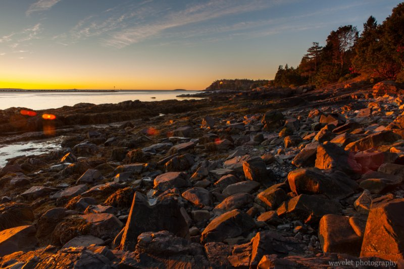 Sunrise, Near Bar Harbor, Acadia National Park, Maine