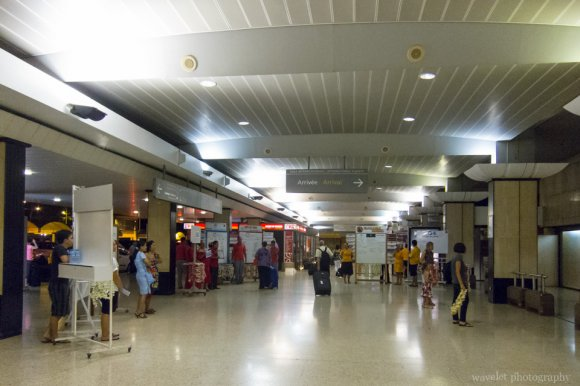 Hallway of Fa'a'ā International Airport, Tahiti