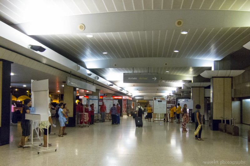 Hallway of Fa'a'ā International Airport, Tahiti