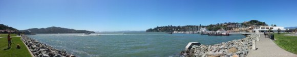 Richardson Bay and the boardwalk, Tiburon