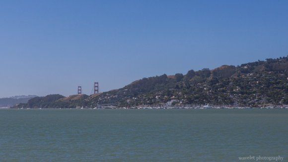 Overlook Richardson Bay and Golden Gate Bridge from Tiburon's Boardwalk