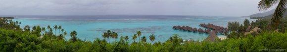 Panoramic view of Sofitel Moorea Resort