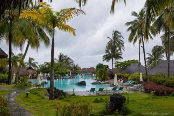Garden of Hilton Moorea Lagoon Resort & Spa