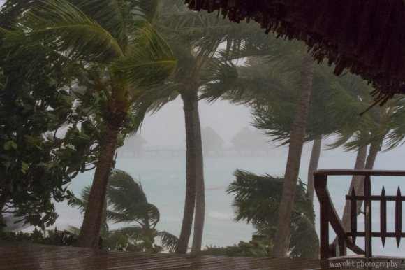 Stormy weather at Bora Bora