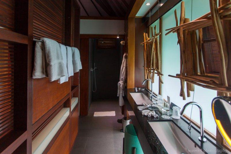 Inside the overwater bungalow in Le Méridien Bora Bora