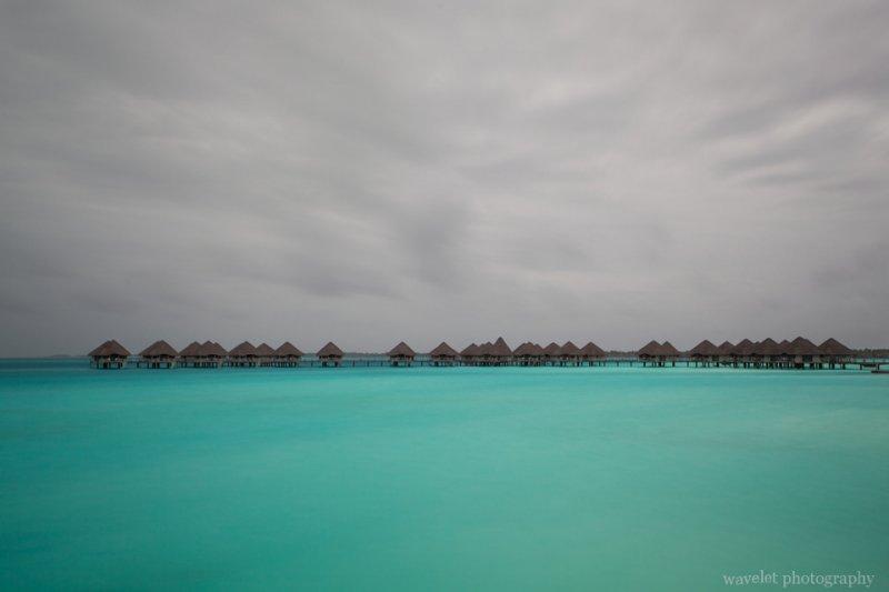 Overwater bungalows of Le Méridien Bora Bora