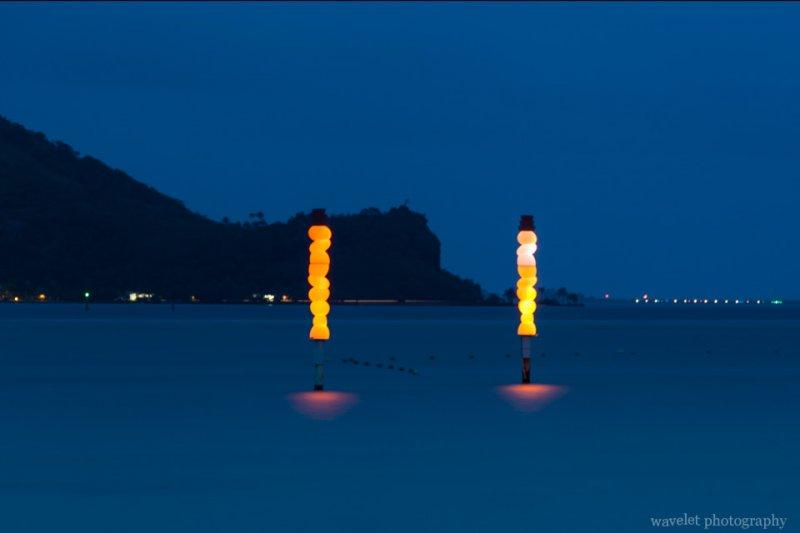 Night view of Le Méridien Bora Bora