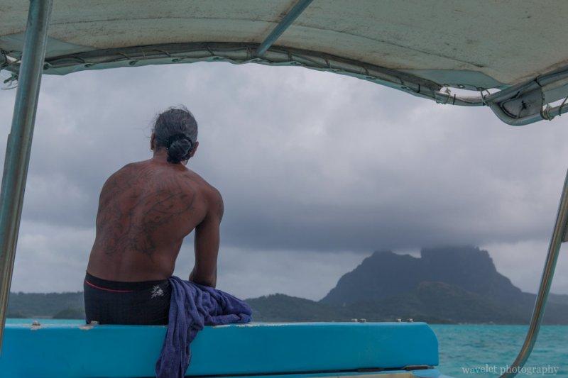 Tartoos on a local tour guide, Shark and Ray feeding tour, Bora Bora