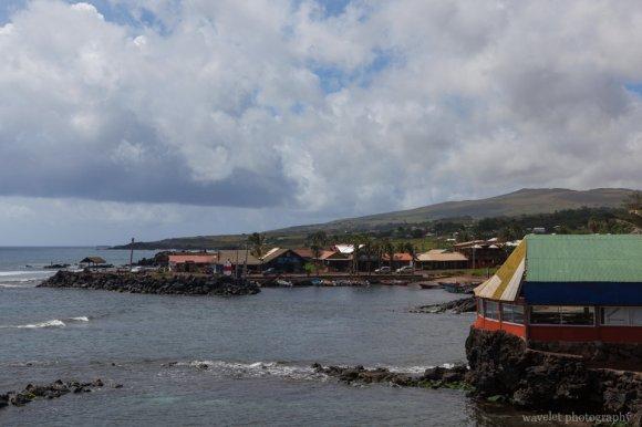 The north port of Hanga Roa, Easter Island