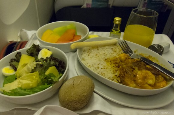 Business Class meal, from Papeete to Easter Island