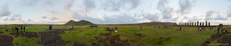 360 degree panorama of Ahu Tongariki and Rano Raraku