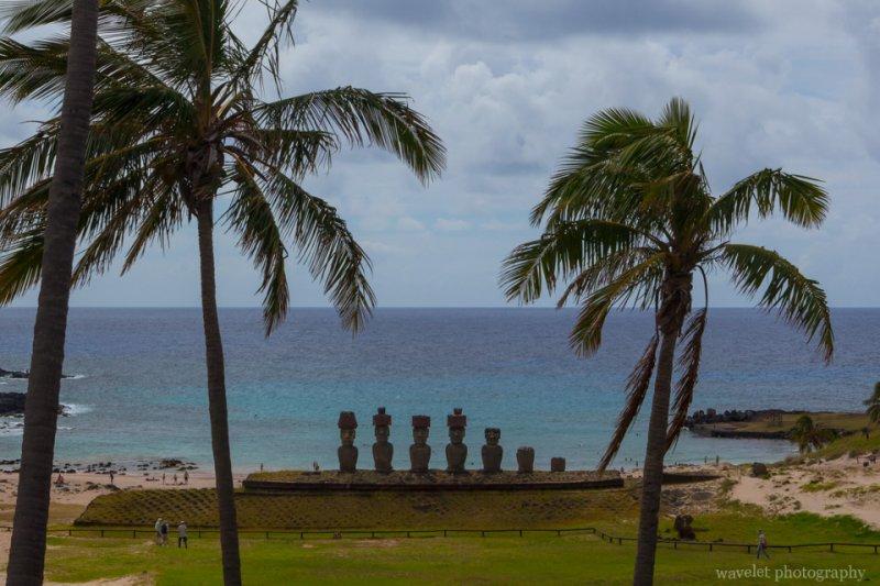 Ahu Nao-Nao at Anakena beach, Easter Island