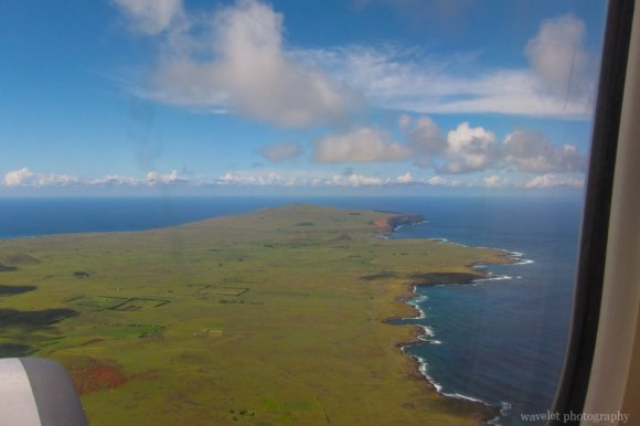 Overlook Poike from the airplane, Easter Island