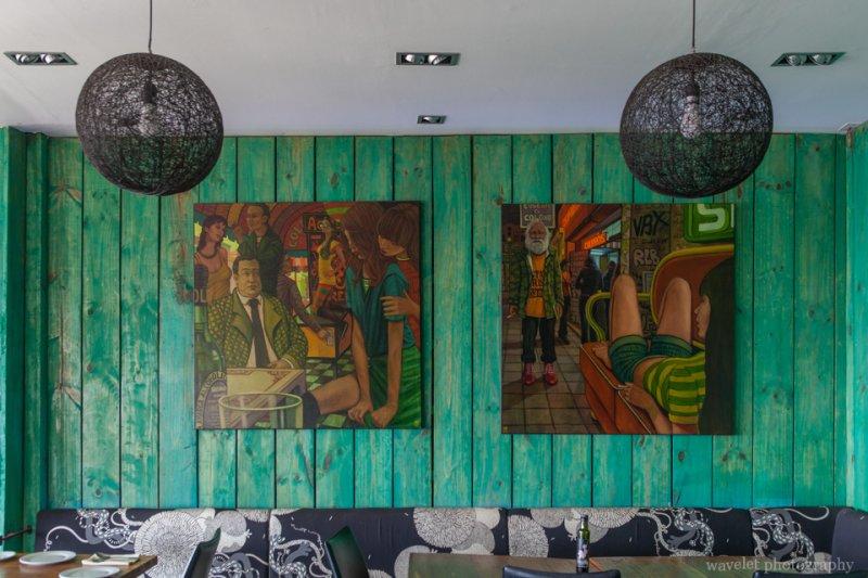 Decors of a restaurant, Valparaiso