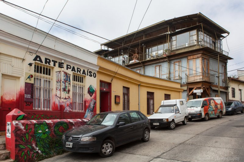 An old house turning into a hotel with design, Valparaiso